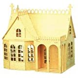The Lodge House Dolls House Kit 1:12 scale plywood