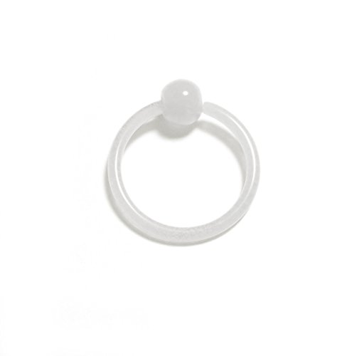 piercing-dreams KKR0021/Klemmkugelring Glow in the Dark 1,6 x 12 mm flexi weiss (The Lippe In Dark Glow Ring)