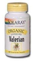 Solaray Organic Valerian Root Supplement, 515 mg, 100 Count by Solaray