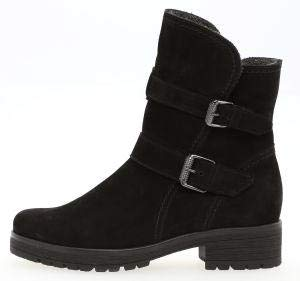 Gabor Damen Biker Boots 92.093,Frauen Stiefel,Stiefelette,Halbstiefel,Bikerstiefelette,Bootie,Hoch,Blockabsatz 2.5cm,Einlegesohle,G Weite (Normal),Schwarz (Mel.),UK 5