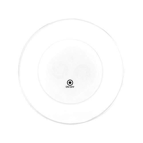 Riuty 2 stück Cocktail licht Basis, runde helle licht led Flasche Aufkleber Coaster für bar Party tischdekoration(Weiß)