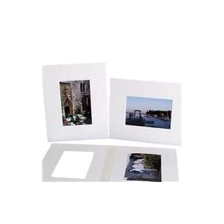 Archival Methods Pre-Cut Exhibition Mats Board, One 13x19 on 20x24 Board, 4 Ply, Bright White, Package of 5 by Archival Methods