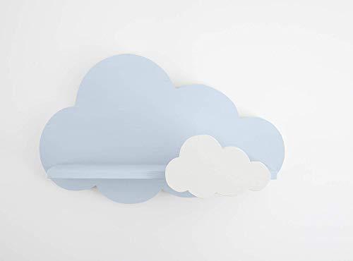 Nube Estantería Azul con Nube Blanca