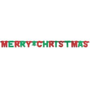 Amscan 1,5m x 10,8cm Merry Christmas Letter Banner, rot/grün