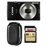 Canon 1803 C011 Ixus 185 20.0 MP Fall & Karte schwarz 8 x sich 2,7 in LCD Essential Kit in – (Kameras > Digitalkameras)
