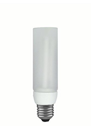 Paulmann Leuchten Energiesparlampe Decopipe Gerade, Warmweiß, Glas, E27, 11 W, Satin, 14 x 3.8 x 14 cm