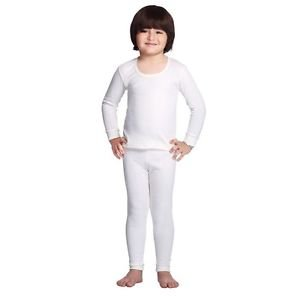 Body Care Thermal Top & Pyjama Set for Baby Boys & Baby Girls (3-6 Months, off-white)