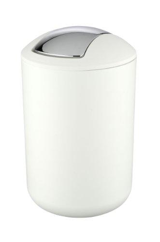tikeimer Brasil Weiß - absolut bruchsicher, Fassungsvermögen 6.5 L, Thermoplastischer Kunststoff (TPE), 19,5cm x 19,5cm x 31cm, Weiß (Weißen Eimer)