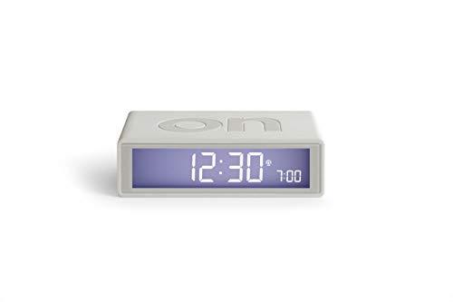 Lexon Flip + Reloj Despertador Pantalla LCD Gris