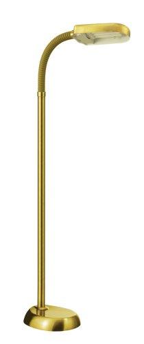 Daylight 00853 Tageslicht-Standleuchte   Verbessert die Stimmung   Flexibler Lampenhals   152 cm   27 Watt   Energiesparend - Energieeffizienz A   Messing-farbend