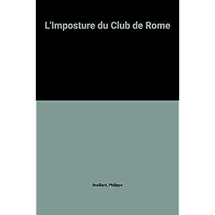 L'Imposture du Club de Rome