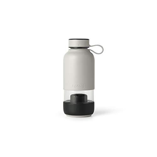 Lékué Botella con Filtro de Agua, Gris, para 1 Persona