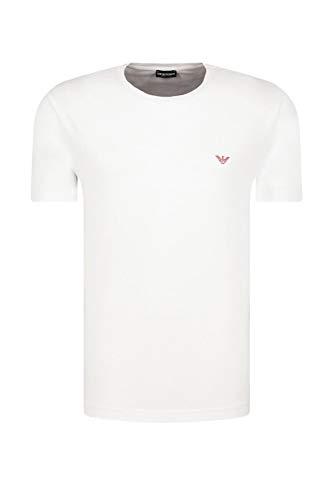 Emporio Armani Herren Mit Rundhalsausschnitt T-Shirt, Weiß, L