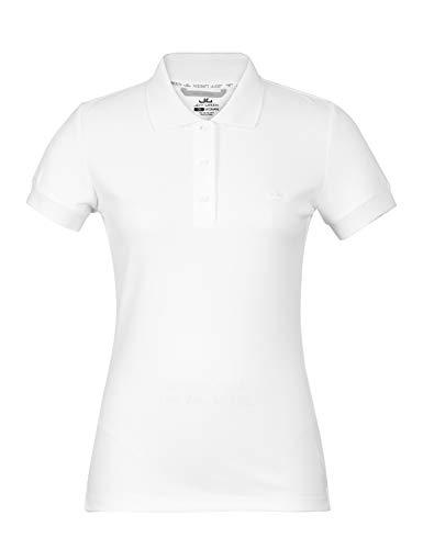 Jeff Green Damen Atmungsaktives Funktions Poloshirt Cadet, Größe - Damen:38, Farbe:White
