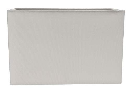 Zeitgemäßer und stilvoller Taube Grauer Leinenstoff Rechteckiger Lampenschirm aus Stoff von Happy Homewares - Rechteckige Lampenschirm