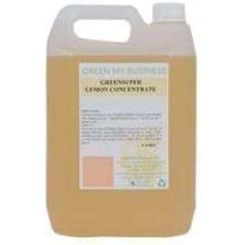 GreenSuper respetuoso del medio ambiente Limón Natural Concentrado Maceta Jabón Líquido Gentil 5 litros larga duración grandes resultados gran esencia