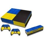 RISHIL WORLD Ukrainian Flag Pattern Decal Stickers for Xbox One Game Console