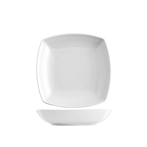 'fimel- Lot de 6 Assiettes Creuses en porcelaine blanche, seriesaturnia Tokio \