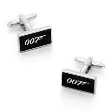 Pyramid International James Bond inspiré - Boutons de manchette pour homme - 007 - Design - Boutons de manchette fantaisie dans boîte en velours bleu