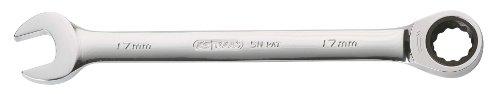 KS Tools 503.4217-E Clé mixte à cliquet CHROMEplus 72 dents 17 mm, sur support