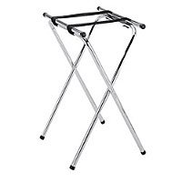 Thunder Group Double Holding Tray Stand, Chrome Plated by Thunder Group Chrome-plated Tray Stand