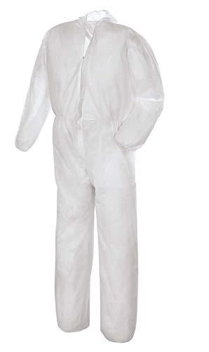 teXXor Einweg-Overall Chemikalienschutz-Overall (SMS) weiß L -