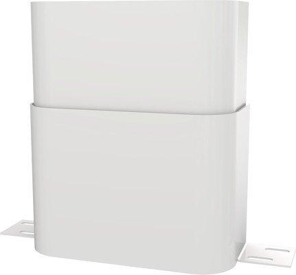 Franke Gehäuseverlängerung aus Edelstahl für Mineralwerkstoff-Duschpaneel in weiß, Ausführung:110-170 mm