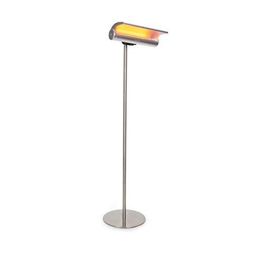 Blumfeldt Heat Guard Reflex • Chauffage Radiant • pour terrasses et extérieur • 1800W • lumière Moins Visible • Classe de Protection IP55 • minuterie avec Fonction d'arrêt • télécommande • Noir