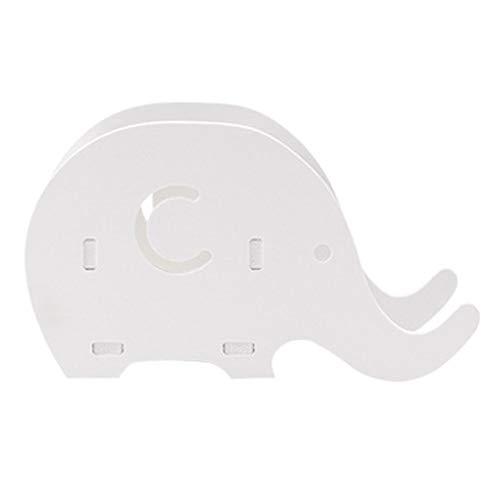Ogquaton Elefante Lápiz Titular de Dibujos Animados Lindo de Madera Creativa Suministros de Escritorio de Escritorio Lápiz Titular con Soporte de Teléfono Celular 1 UNIDS