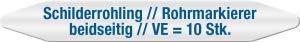 Schilderrohlinge | Rohrmarkierer beidseitig | 4,4 x 40cm | Kunststoff, 1 mm | VE = 10 Stück