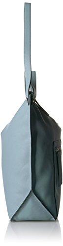 Ecco Damen Sculptured Hobo Bag Schultertasche, 12x33x40 cm Blau (Blue)