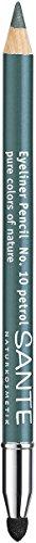 SANTE Naturkosmetik Eyeliner Pencil No. 10 petrol, Kajalstift, Farbintensive cremige Textur,...