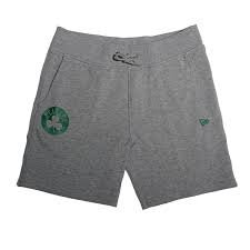 New Era NBA Team App Pop Logo Short Kurze Hose BOSCEL Linie Boston Celtics, Unisex Erwachsene, Grau (LGH) (Celtics Boston Shorts)