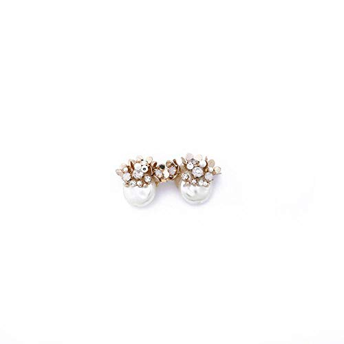 ZhongYi Lady Pearl Edelstein Ohrringe Cluster (Herren-diamant-cluster-ohrringe)