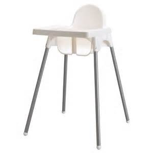 Ikea Antilop Highchair with Tray, Safety Belt, White/Silver Colour