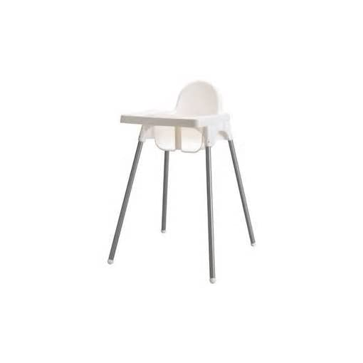 Ikea Antilop Highchair with Tray, Safety Belt, White/Silver Colour 21xDttcJ6pL
