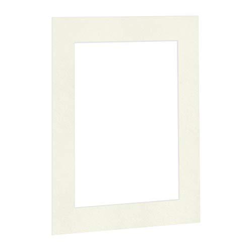 Passepartout Cremeweiß in 50x60 cm Außenmaß mit Ausschnitt für Bildgröße 30x40 cm