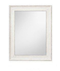 Specchiera di legno bianca stile vintage con fregi L'ARTE DI NACCHI NT-42