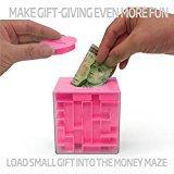 zantec Geld Labyrinth: Einzigartige Weise zu geben Kleine Geschenke, Stück–perfekte Geschenk Puzzle Box für Kinder–Cool 1, 2, 5Dollar Münze Sparschwein–Sicher für Kinder–Geburtstag Weihnachten Geschenk Ideen für Vater Mom Herren oder Frauen (1 Dollar Weniger)