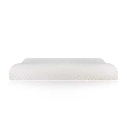 Pillow-top-king-size-matratze (KGGOPREAn Wave Memory Foam Pillow für Erwachsene Anti-Schnarchkissen spezielle Reparatur beruhigende Hals Schulter wund Kissen White air Layer 63x35x5-8cm)