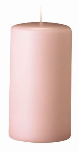 Bougies Pilier Taupe Rose 6 x 4 cm, Lot de 12