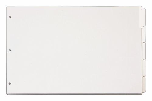 Tops Cardinal 11x 17Schreiben 'n Erase Tab Teiler, 5-tab, weiß, (84270cb) - Tab 5 Weiß Teiler