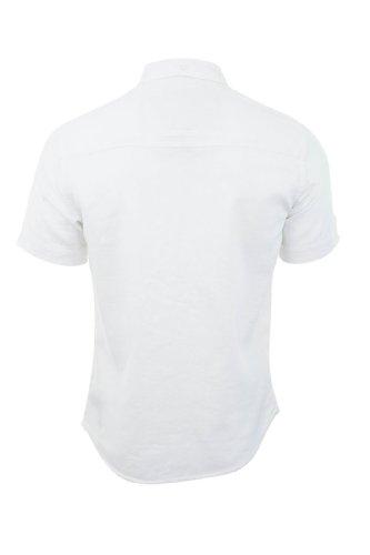 """Tokyo Laundry - """"Vantage"""" Chemisette Homme Milleraie Dobby Manche Courte Neuf White Linen"""
