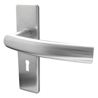 Jedo JSS681 Luma Lever on Lock Backplate - Satin Stainless Steel
