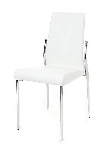 Wink design - Columbia -pièce de 4 chaises blanches - simili-cuir