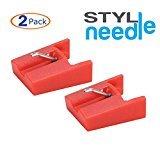 Stylineedle Diamant Tonnadel Austausch Plattenspieler Plattenspieler Nadel - 2 Pack - für ION ICT 04 RS und Crosley NP4