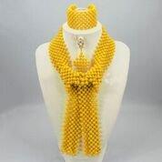 Dernière Design Allongé de style africain du Nigeria Parti Mariage Mariée Bijoux de