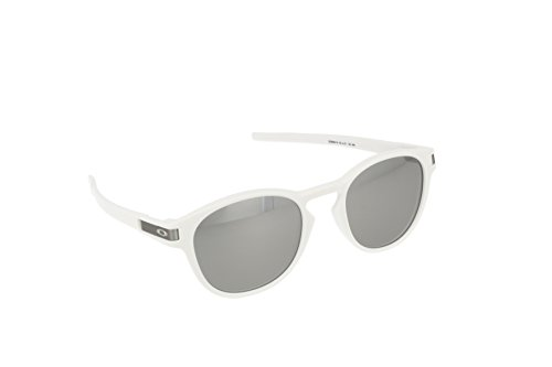 Oakley Herren Sonnenbrille Latch Weiß (Matte White/Grey Chrome Iridium), 53