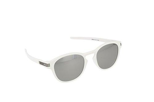 Oakley latch 926516 53 - occhiali da sole, uomo, bianco (matte white/grey chrome iridium)