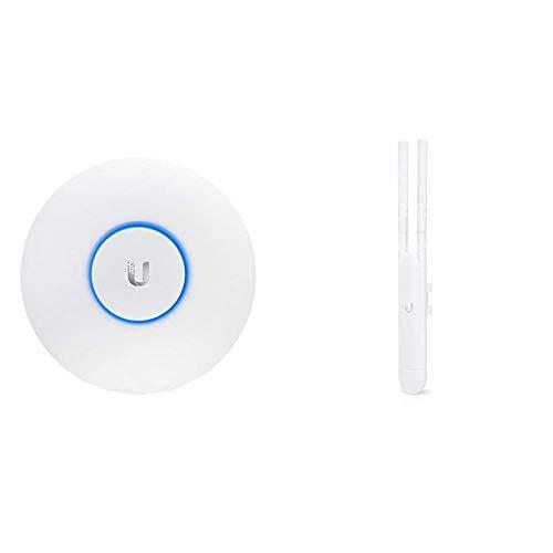 Ubiquiti Networks Indoor 2.4/5GHz 867Mbit 183m 24V passive PoE, UAP-AC-LR (24V passive PoE 175.7 x 43.2 mm Indoor) & UAP-AC-M Wireless Access Point UniFi AP AC Mesh